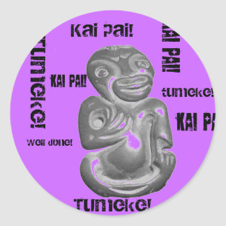 Tumeke Tiki- Awesome! Classic Round Sticker