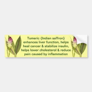 Tumeric bumper sticker