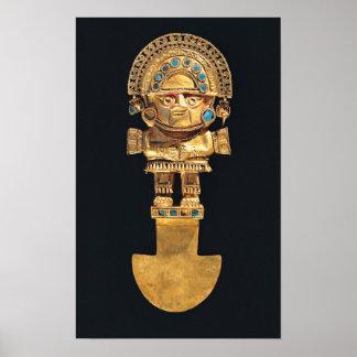 Tumi o cuchillo ceremonial en la forma de póster