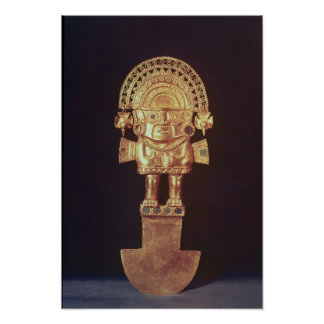 Tumi or ceremonial knife in  shape of Naylamp Poster