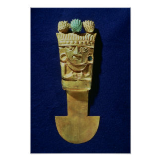 Tumi or ceremonial knife in the shape of poster