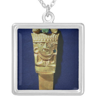 Tumi or ceremonial knife in the shape of silver plated necklace