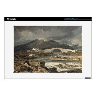 """Tummel Bridge, Perthshire, c.1801-03 (oil on panel 15"""" Laptop Skins"""
