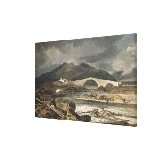 Tummel Bridge, Perthshire, c.1801-03 (oil on panel Canvas Print
