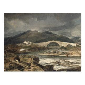 Tummel Bridge, Perthshire, c.1801-03 (oil on panel Postcard