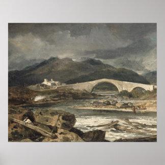 Tummel Bridge, Perthshire, c.1801-03 (oil on panel Poster