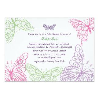 Tummy Flutters Baby Shower Invitation
