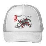 Tumor cerebral de la mariposa 2 del vitral gorro de camionero