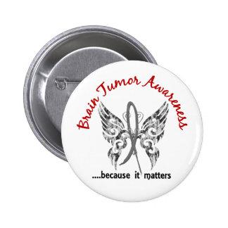 Tumor cerebral de la mariposa 6,1 del tatuaje del  pin