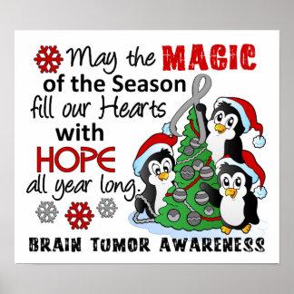 Tumor cerebral de los pingüinos del navidad poster
