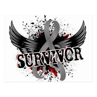 Tumor cerebral del superviviente 16 tarjetas postales