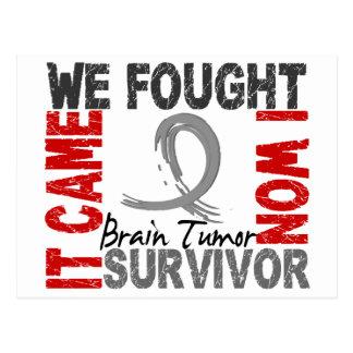 Tumor cerebral del superviviente 5 tarjetas postales