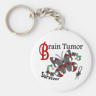 Tumor cerebral del superviviente 6 llavero