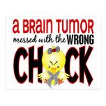 Tumor cerebral ensuciado con el polluelo incorrect tarjetas postales