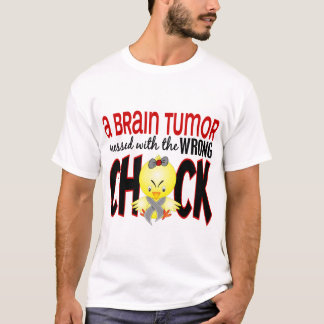 Tumor cerebral ensuciado con el polluelo playera