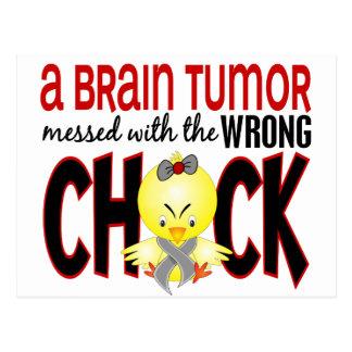 Tumor cerebral ensuciado con el polluelo tarjetas postales