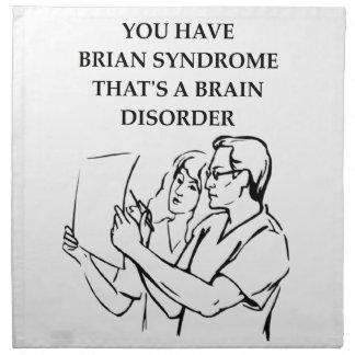 tumor cerebral servilletas de papel