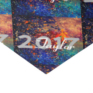 "Tumultuous Bright Rainbow Nebula Graduation Party 20"" X 30"" Tissue Paper"