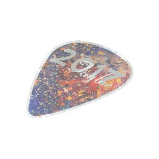 Tumultuous Rainbow Splatter Graduation Party Pearl Celluloid Guitar Pick