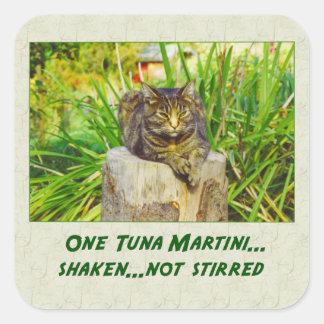 Tuna Martini Square Sticker
