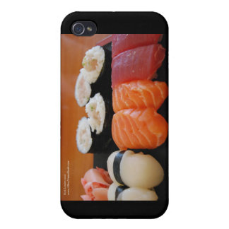 Tuna Salmon Whitefish Sushi Giftts Cards  iPhone 4/4S Cases