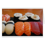 Tuna Salmon Whitefish Sushi Giftts Cards Tees Card