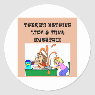 tuna SMOOTHIE joke Classic Round Sticker
