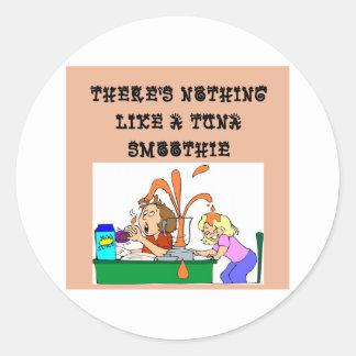 tuna SMOOTHIE joke Round Stickers