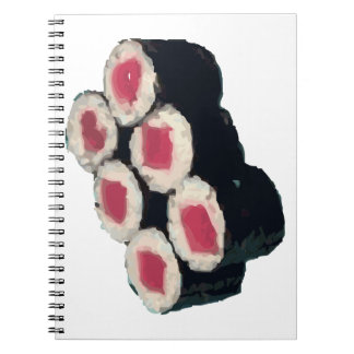 Tuna Sushi Roll Spiral Notebook
