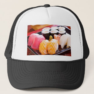 Tuna Yellowfin Etc Sushi Combo Gifts Tees Etc. Trucker Hat