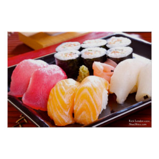 Tuna Yellowfin Etc Sushi Combo Posters Posters