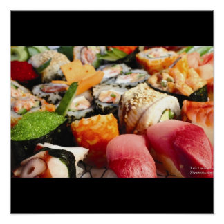 Tuna Yellowfin Etc Sushi Combo Roe Etc Posters Poster