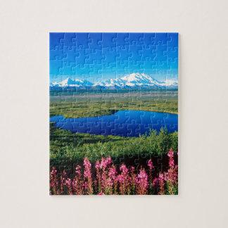 Tundra el monte McKinley Denali Alaska de la escen Rompecabezas