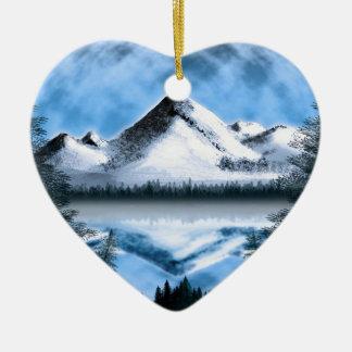 Tundra Moonrise Ceramic Ornament