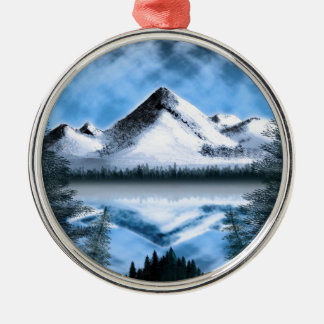 Tundra Moonrise Christmas Ornaments