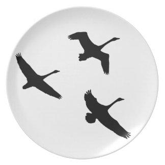 Tundra Swan Birds Wildlife Animals Dinner Plate