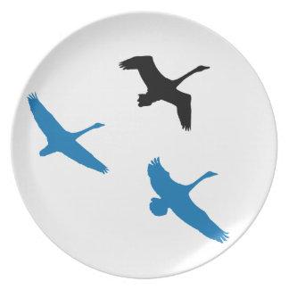 Tundra Swan Birds Wildlife Animals Melamine Plate