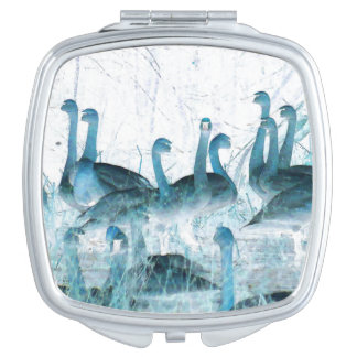Tundra Swan Birds Wildlife Animals Mirror For Makeup