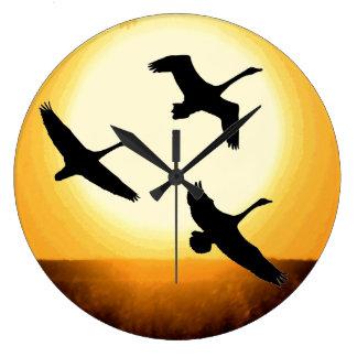 Tundra Swan Birds Wildlife Animals Wall Clock