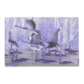 Tundra Swan Birds Wildlife Laminated Placemat