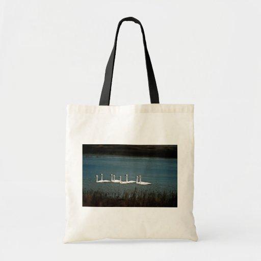 Tundra swans canvas bag
