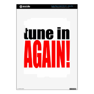 tune again music summer party night alone hangover decal for iPad 3