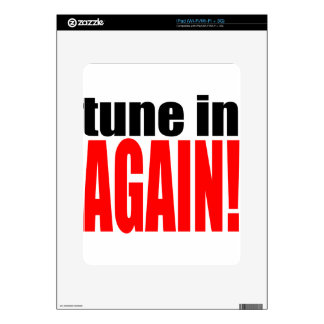 tune again music summer party night alone hangover iPad skins