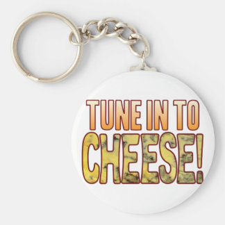 Tune In Blue Cheese Keychain