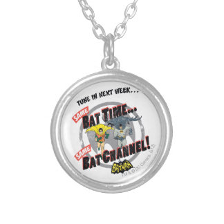 Tune In Next Week Graphic Silver Plated Necklace