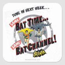 tune in next week, batman tv show graphic, batman, bat man, 1966 batman, 60's batman, batman action callout, action words, fighting sound effect words, punching sounds, adam west, burt ward, batman tv show, batman cartoon graphics, super hero, classic tv show, Sticker with custom graphic design