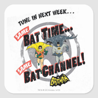 Tune In Next Week Graphic Square Sticker