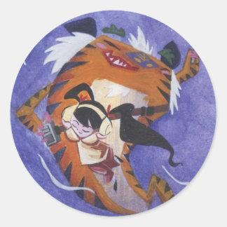 Tune In Shanghai Classic Round Sticker