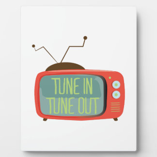 Tune In Tune Out Photo Plaques