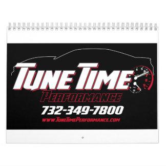 Tune Time Performance custom calendar! Calendar